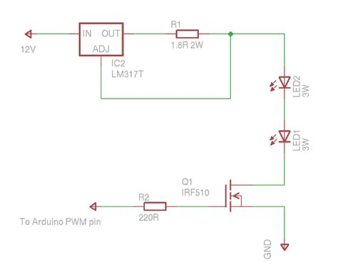 arduino transistor led driver dimming power leds with arduino bajdi