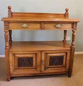 victorian pollard oak sideboard buffet server