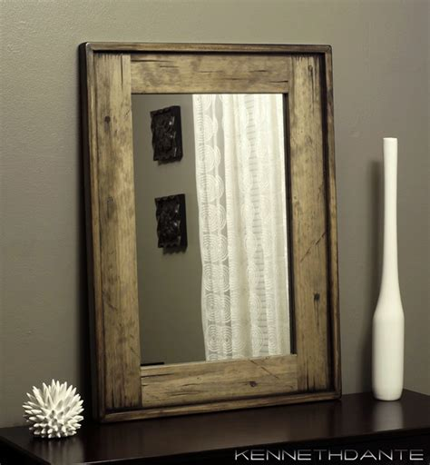 Wood Framed Bathroom Mirrors Wood Framed Mirrors Rustic Wall Mirrors Milwaukee By Kennethdante Woodworks