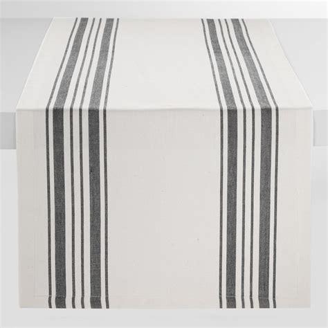 stripe table runner black villa stripe table runner market