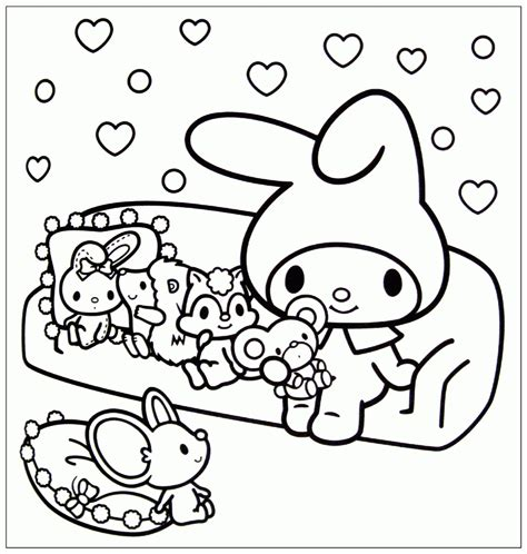my melody coloring page coloring home