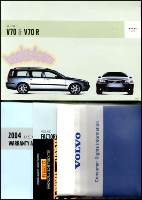 car engine repair manual 2004 volvo v70 user handbook owners manual v70 2004 volvo book v70r turbo ebay