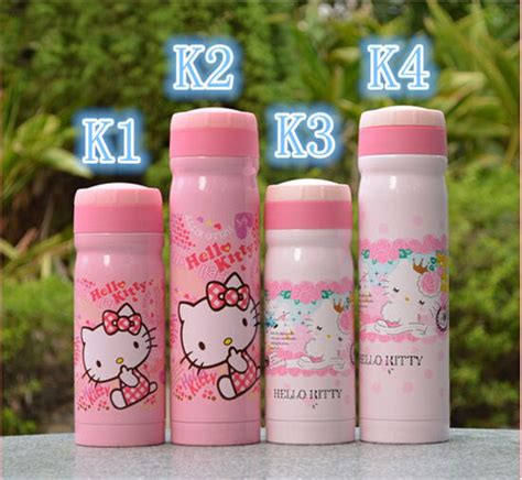 Hello Pink Stainless Thermos hello children stainless steel thermos 350ml 500ml
