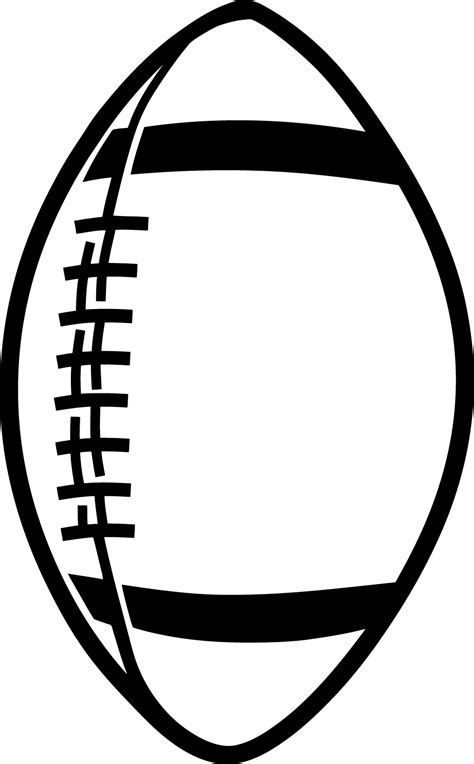 football outline template clipart best