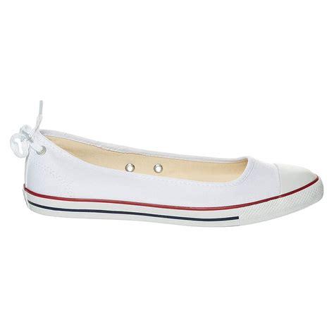 new womens converse footwear white dainty ballerina pumps