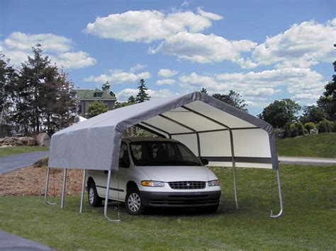 Temporary Car Port by Aluminum Carports Are Portable Durable And Affordable