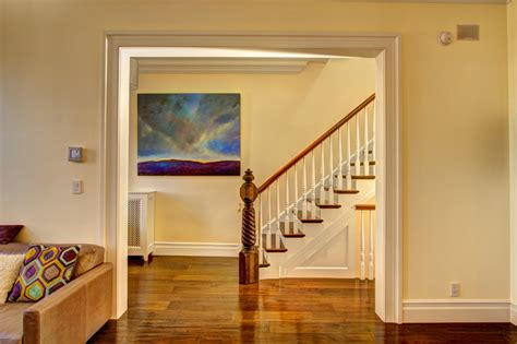 How To Trim A Door Opening by Park Slope Brownstone Traditional Staircase New York