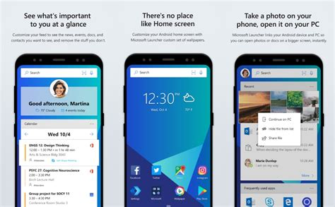 microsoft launcher themes microsoft launcher updated with new transparency options