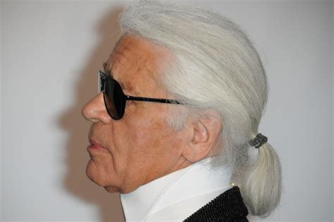 mens hair styles old fashion with pony tail karl lagerfeld s pony tail landlordrocknyc