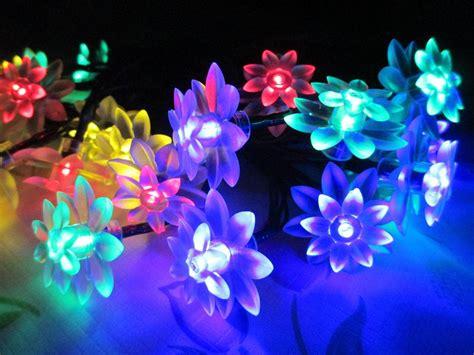 flower lights string decoration solar lights solar flower string lights