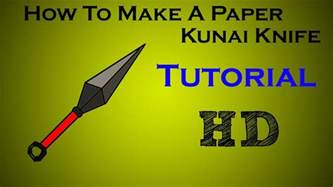 How To Make A Paper Knife - image gallery origami kunai