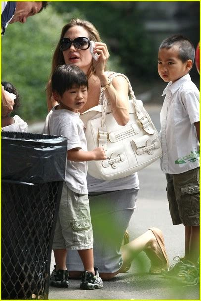 Bag For Babies Zahara Joli Pitt With Valentino Histoire Bag by Pax Pitt