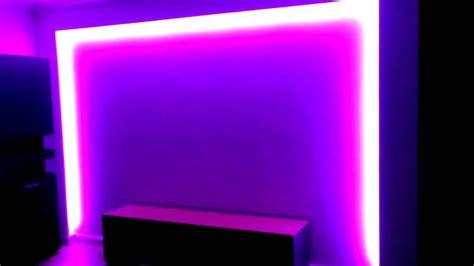 indirektes licht led strips 12v rgb mit trafo und fernbedienung