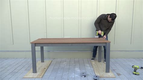 homemade modern homemade modern ep101 diy outdoor dining table