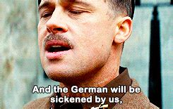 viewers react to quot the new brad quot on seven year switch reunion brad pitt inglourious basterds quotes quotes