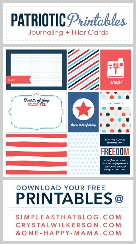 free printable patriotic postcards fourth of july journaling filler cards