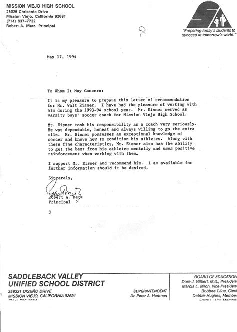 Letter Of Recommendation For College From High School Sle Letter Of Recommendation For High School Student Scholarship