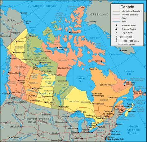 canada usa map  cities wwwproteckmachinerycom