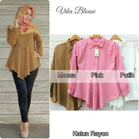 Baju Atasan Wanita Muslim Blouse Aznii 7 jual kemeja kerja wanita blouse polos baju atasan hem