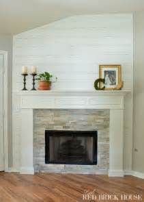 fireplace makeover demo pillar construction
