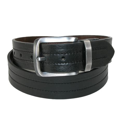 mens leather heat distressed reversible belt by levis