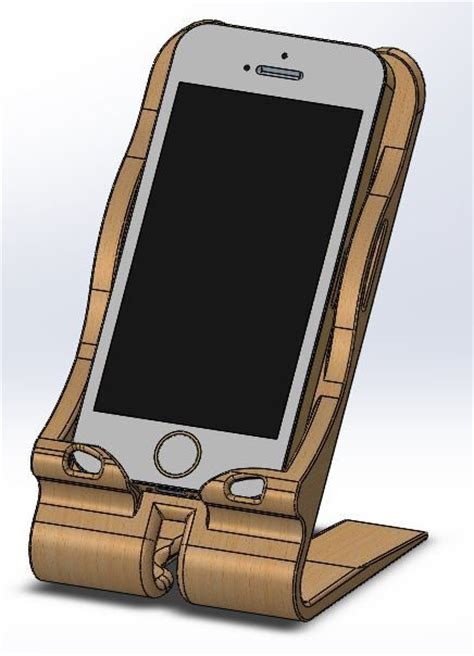 stand  iphone solidworks  cad model grabcad