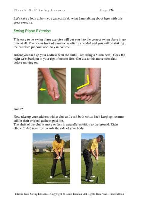 Swing Lessons by Classic Golf Swing Lessons Improve Golfing Techniques