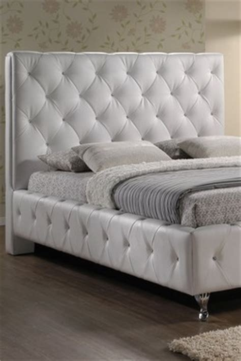 Stella Tufted White Modern Bed With Upholstered Headboard by Fabulous Tufted Furniture Stylish Daily