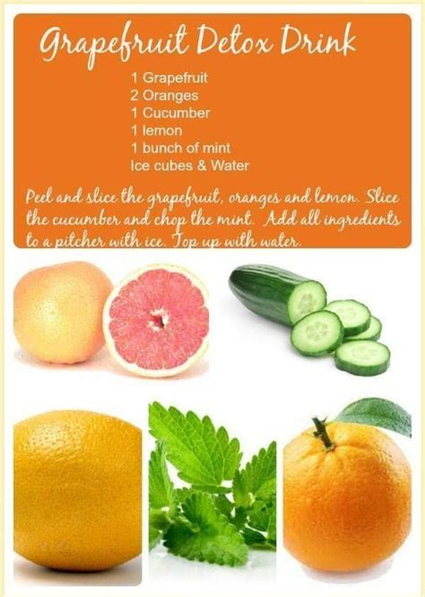 Fast Easy Detox by The Grapefruit Detox Drink This Is More Like A Water