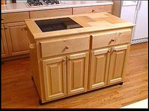 building a kitchen island with cabinets make a roll away kitchen island hgtv