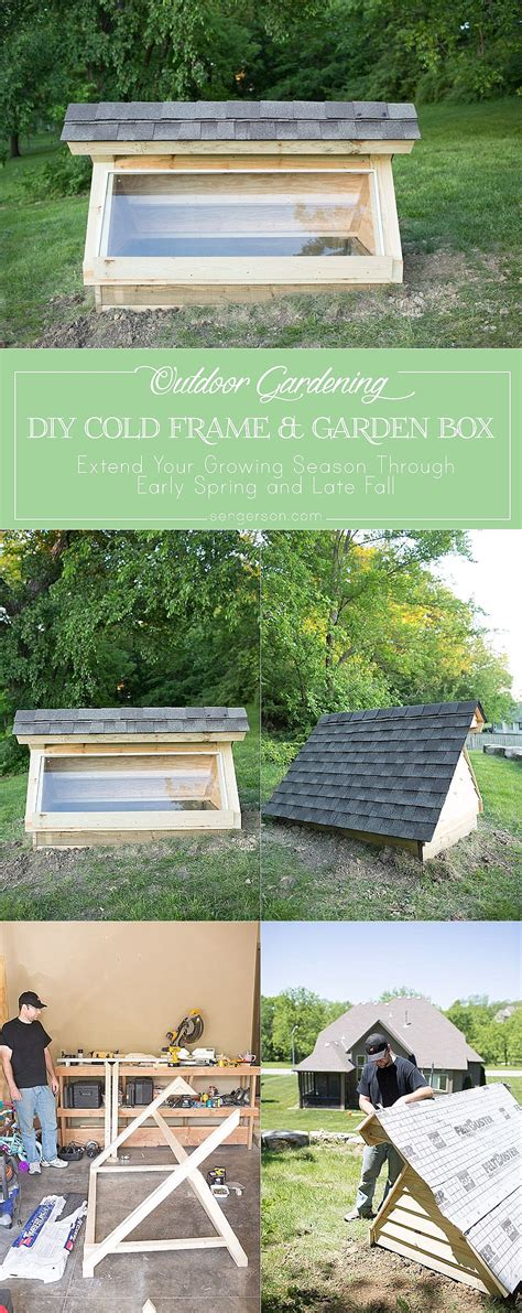 Cold Box Gardening by Diy Cold Frame Garden Box Greenhouse For Early And