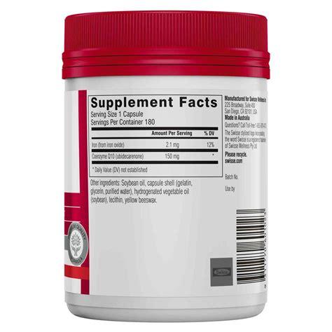 Swisse Kidney Detox by Swisse Co Enzyme Q10 150 Mg 180 Capsules Evitamins