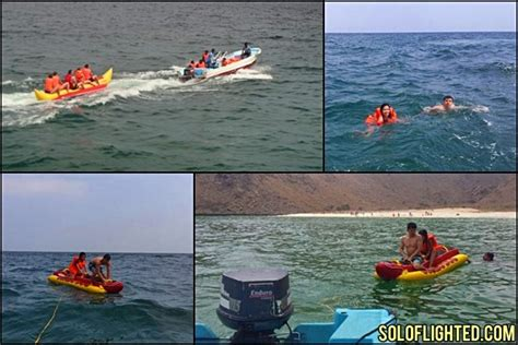 banana boat ride musandam dhow cruise in the waters of musandam in oman soloflighted