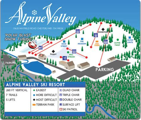alpine mountain skimap org alpine valley snow report onthesnow