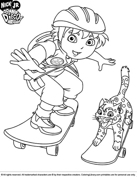 diego coloring pages nick jr go diego go coloring car interior design