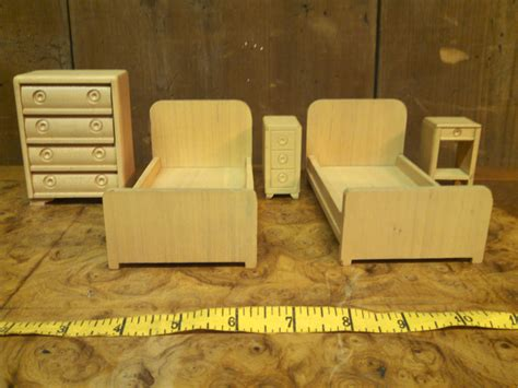 1940s bedroom furniture 1940s 50s strombecker bedroom set vintage dollhouse furniture