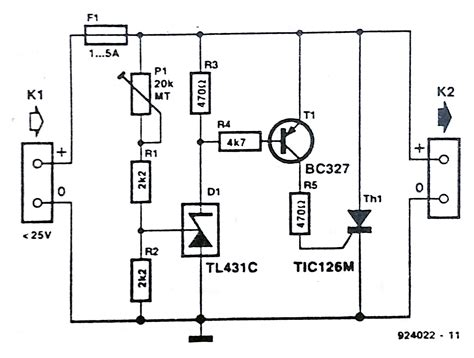 diode protection circuit diagram crowbar overvoltage protection circuit schematic 8v dc power supply with voltage
