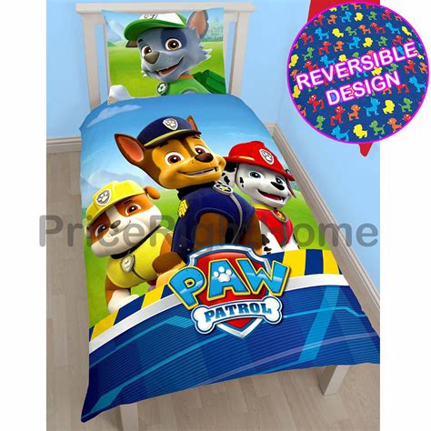 bedroom cover sets paw patrol official duvet cover sets various designs