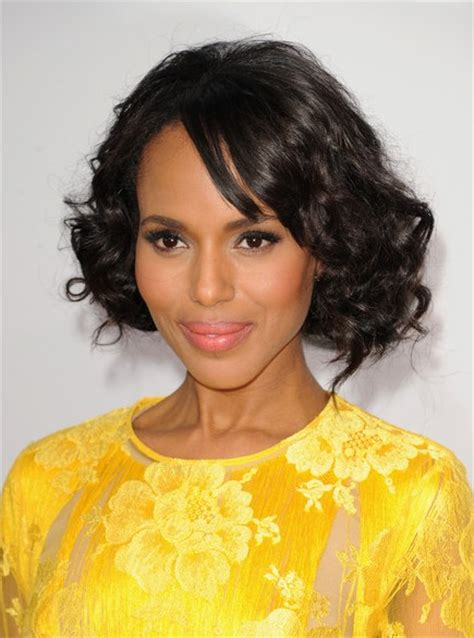 curly bobs for black women 2013 kerry washington short natural black curly bob hairstyle