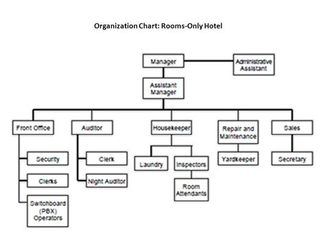 hotel organizational chart doc 40 free organizational