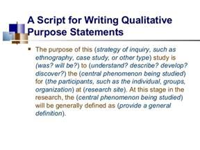 how to write purpose of study in research paper purpose statement