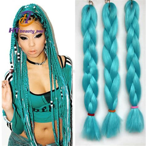 hair of the saying 22inch expression hair braids green synthetic crochet braids hair heat resistant
