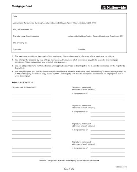 mortgage deed template edit fill sign  handypdf