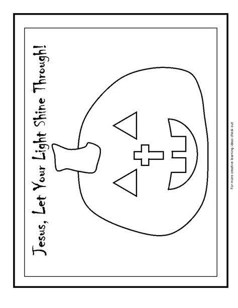 Pumpkin Gospel Coloring Pages | free coloring pages of christian pumpkin poem