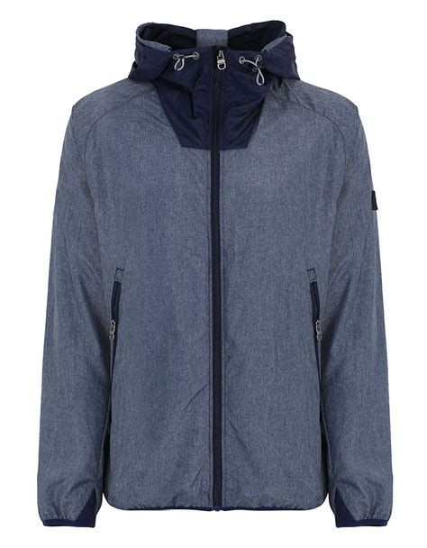 bench blue jacket bench grebo hooded jacket in blue for men lyst