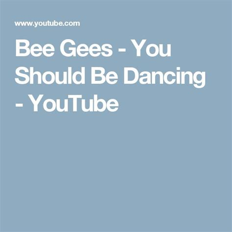 bee gees you should be dancing 64 best images about musica on pinterest lyrics ufo
