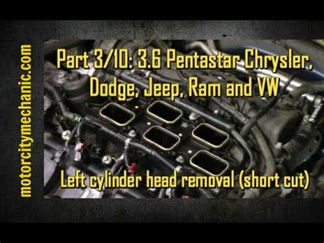 part   pentastar engine left cylinder head removal