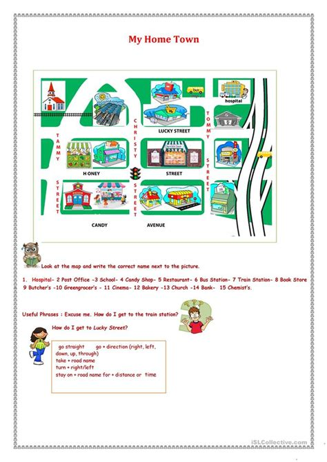 shops in my town worksheet free esl printable worksheets my home town worksheet free esl printable worksheets