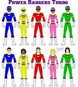 power rangers names and colors power rangers turbo by ameyal on deviantart