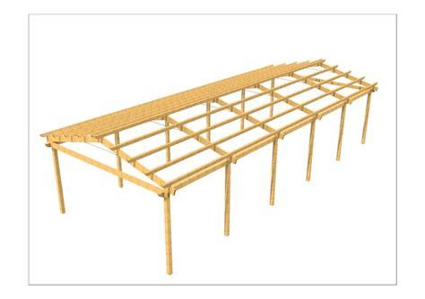 disegno tettoia in legno disegni strutture e coperture in legno